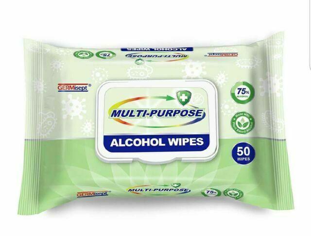 50ct Multi-purpose Alcohol Wipes